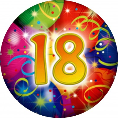 Cialda 18 Anni a soli 4,49 € | DecorazioniperDolci.it on