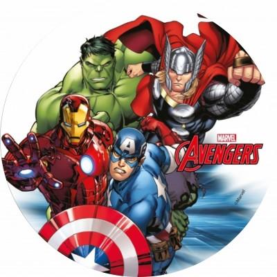 Avengers cialda per torta