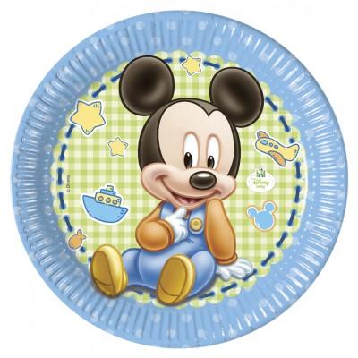 Baby topolino piatto di carta Grande