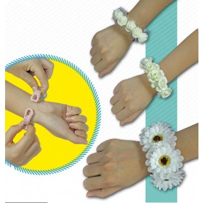 braccialetto fiori bianchi