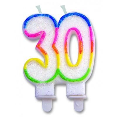 candelina per trentesimo compleanno