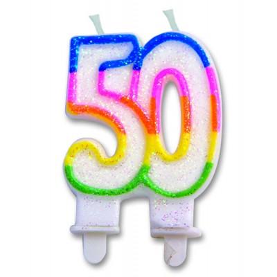 candelina per cinquantesimo compleanno