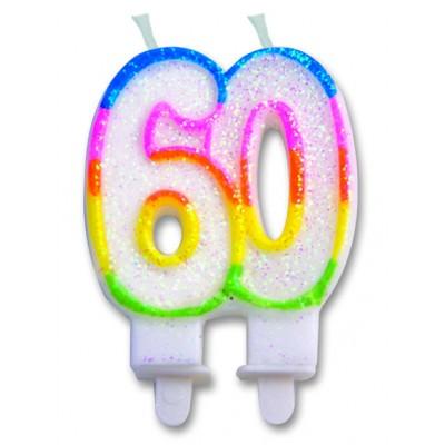 candelina per sessantesimo compleanno