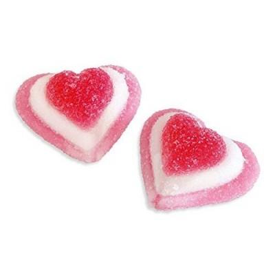 Caramelle gommose cuori rosa tricolori