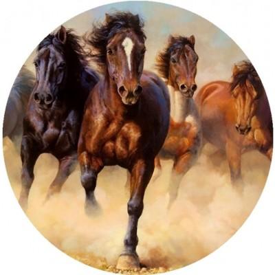 Ostia per torta con cavalli