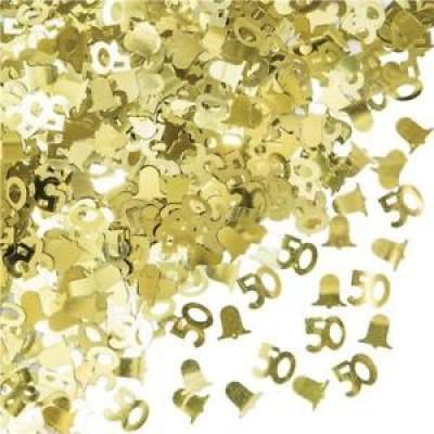 Decorazioni per la tavola nozze d'oro
