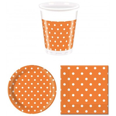 Coordinati tavola arancio pois