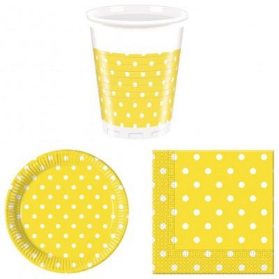 Coordinati tavola giallo pois