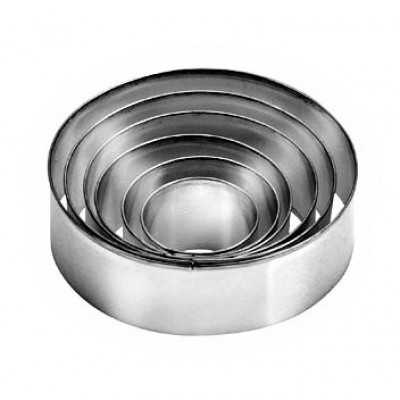 coppapasta acciaio lisci 6 pz