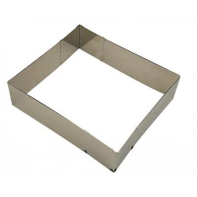 cornice quadrata in acciaio inox