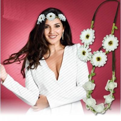 coroncine fiori bianchi