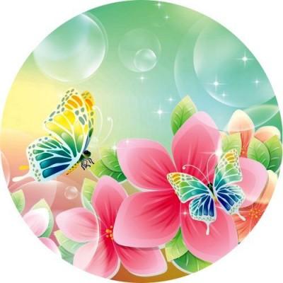 Cialdeper torta con disegni di farfalle for Immagini farfalle per desktop