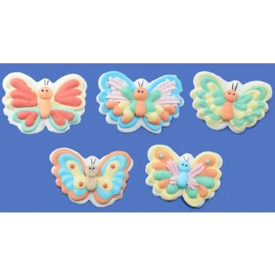 Farfalle in zucchero per torta