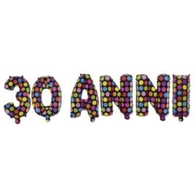 festone palloncini 30 anni
