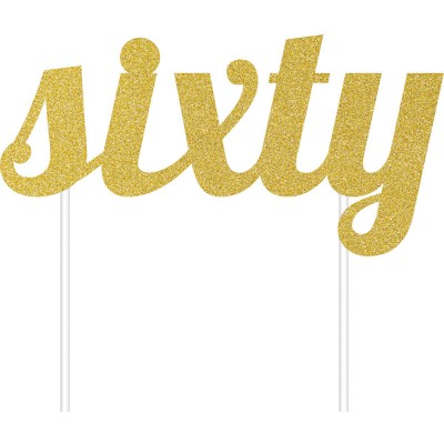 cake topper sixty