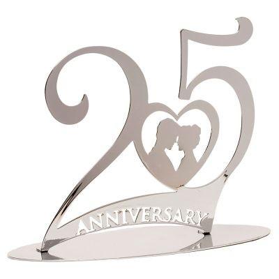 cake topper 25 anniversario