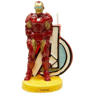 candelina per torta Iron man