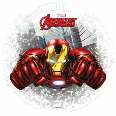 Cialda per torta di compeanno Iron Man avengers