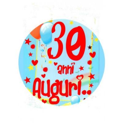 cialda per torta di compleanno 30 anni