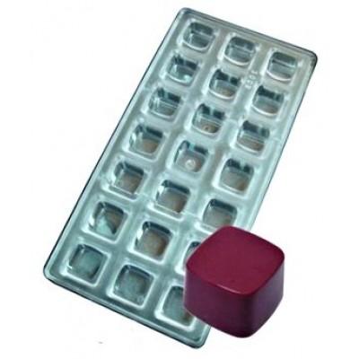 stampo cioccolatino quadrato liscio
