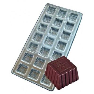 stampo cioccolato quadrato decori