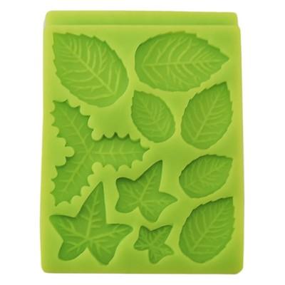stampo silicone foglie quadrato