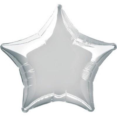 stella palloncini mylar argento
