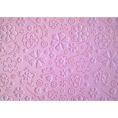 tappeto decoro fondente rosa