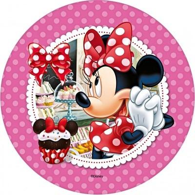 Cialda Minnie disney per torta di compleanno