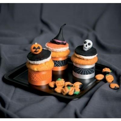 nastri girotorta per halloween decorati con ragnatele