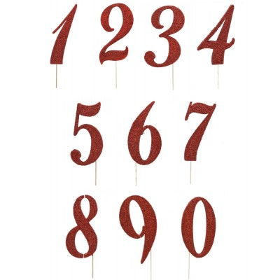Numeri in polistirolo glitter rossi