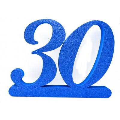 Numero 30 in polistirolo per compeanno
