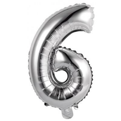 palloncini numero argento 6