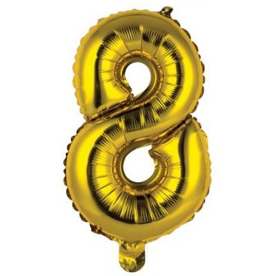 Palloncini numero 8 oro