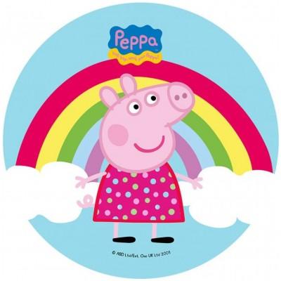Peppa pig cialda torta compleanno