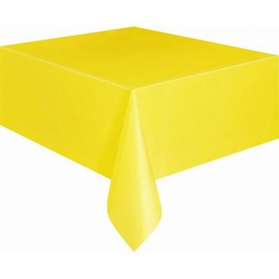 Tovaglie gialle in plastica