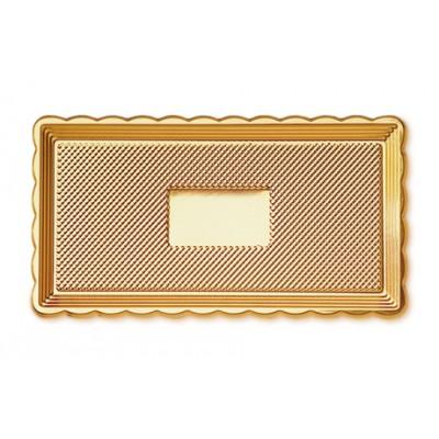 Vassoio plastica oro per torta