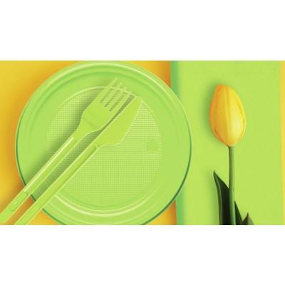 coordinati tavola verde acido