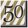 Tovaglioli 50 anni Black and Gold