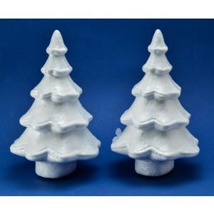 Alberi di Natale in polistirolo 2 pz