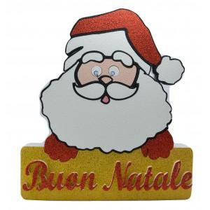 Babbo Natale decorato in polistirolo