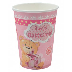 Bicchieri Battesimo rosa
