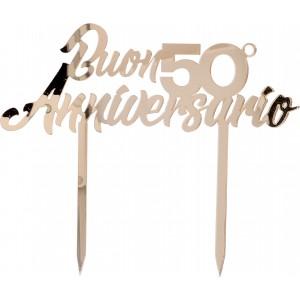 Cake Topper 50° anniversario plex