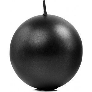 Candela a sfera Nero 6 cm