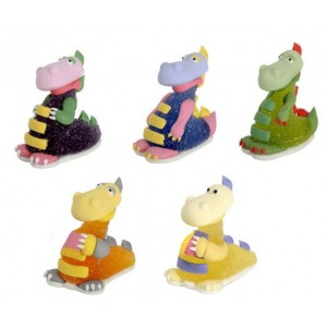 Set dinosauri in gel 5 pz