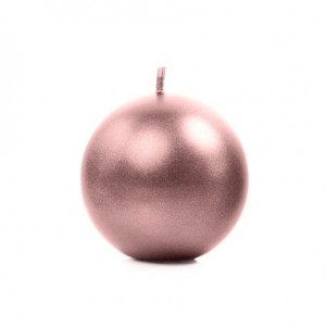 Candela a sfera Rosa Gold 6 cm