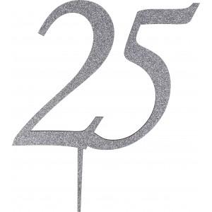 Cake Topper 25° anniversario legno