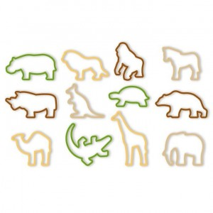 Set Tagliabiscotti Animali dello Zoo 12 Pz. Tescoma