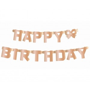 Festone Happy Birthday Rosa gold