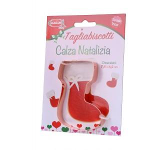 Tagliabiscotti Calza Natalizia